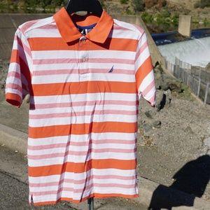 NWT nice youth Nautica polo shirt size L
